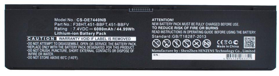 34GKR baterie pro Dell 6080mAh 7,4V Li-Pol